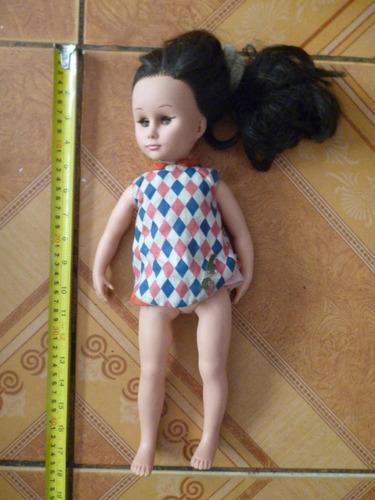 muñeca de jebe duro piel rose hecha en argentina