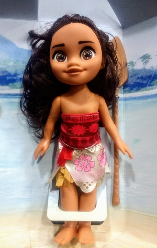 muñeca de moana 25cm de goma musica de la pelicula y remo