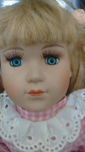 muñeca de porcelana importada