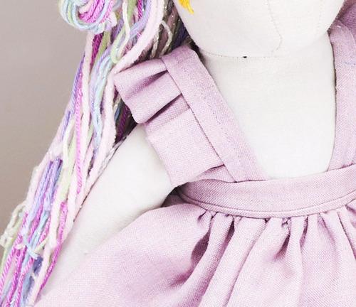 muñeca de tela - unicornio renata
