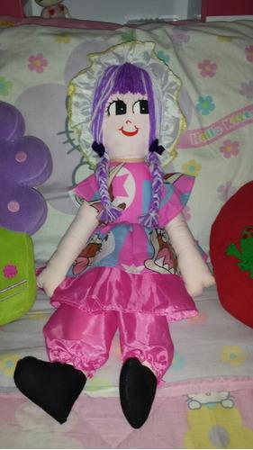muñeca de trapo artesanal 60cm de largo