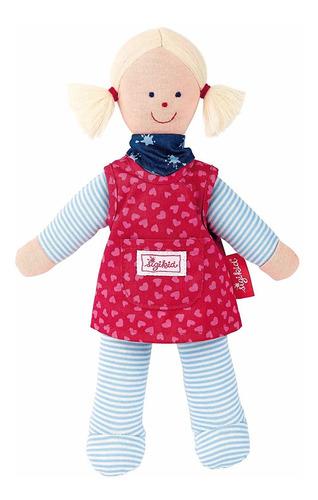 muñeca de trapo - vestido rojo sigikid