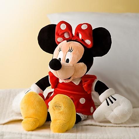 muñeca disney de minnie vesido rojo 45cm de alto disney