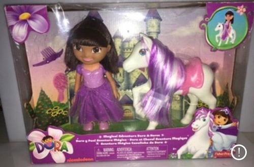 muñeca dora y pony aventura mágica ! sin usar