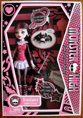 muñeca draculaura monster high stardoll mattel 1a edición