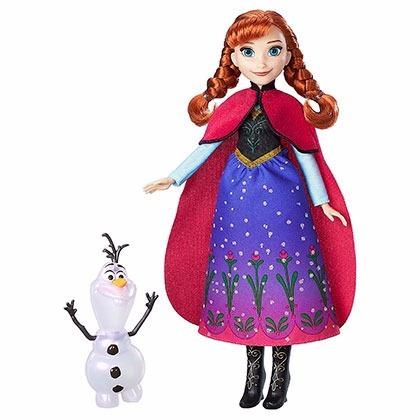 muñeca elsa anna frozen luces magicas 28 cm hasbro b9199 edu