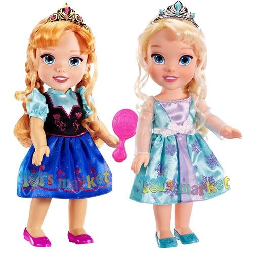 muñeca elsa o anna de 33 cm frozen toddler original disney