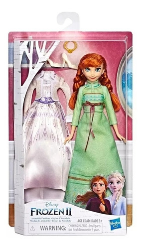 muñeca elsa o anna mas vestido extra frozen 2 hasbro