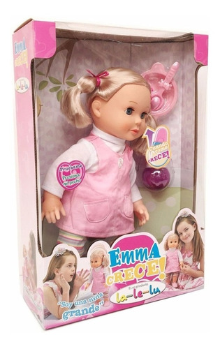 muñeca emma crece sonido original new lalelu 16131s bigshop