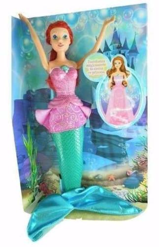 muñeca fashion mermaid sirena princesa - jugueteria aplausos