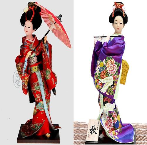 muñeca figura japonesa geisha decorativa coleccion y regalo