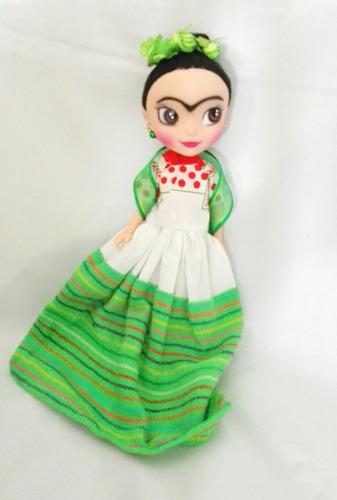 muñeca frida traje tipico mexicano