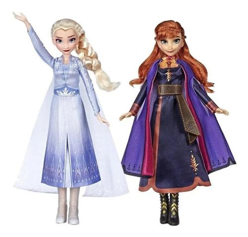 muñeca frozen elsa anna cantan hasbro e5498 educando