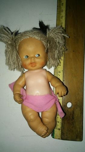 muñeca goma y plastico años 80s