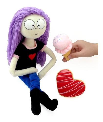 muñeca grande con suave cabello peluche decoración guyuminos