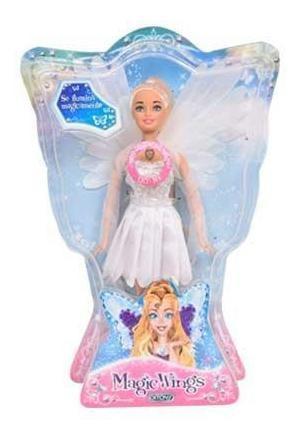 muñeca hada luminosa magic wings con luces y alas ditoys