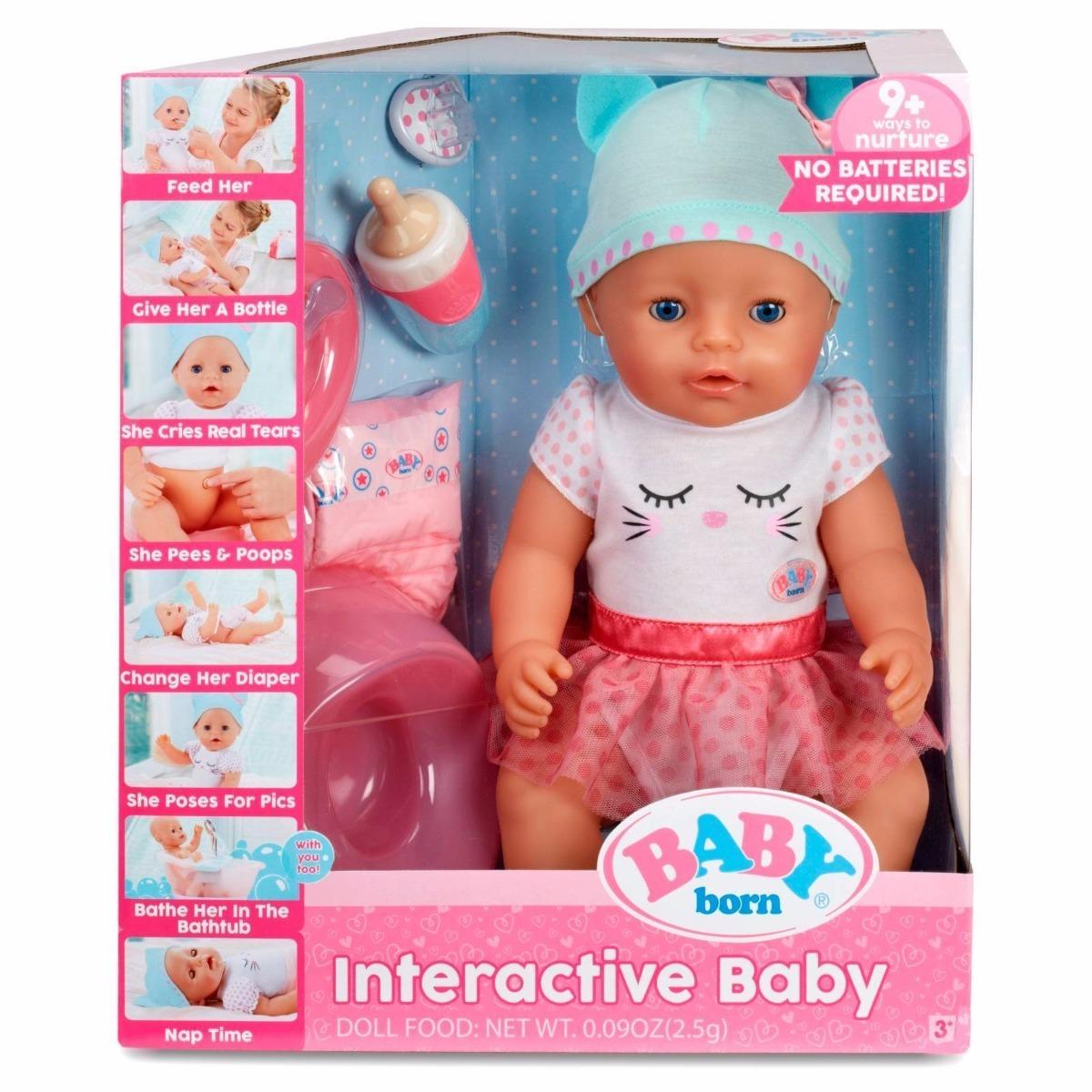 Mu 241 Eca Interactiva Baby Born Ojos Azules Zapf Cre