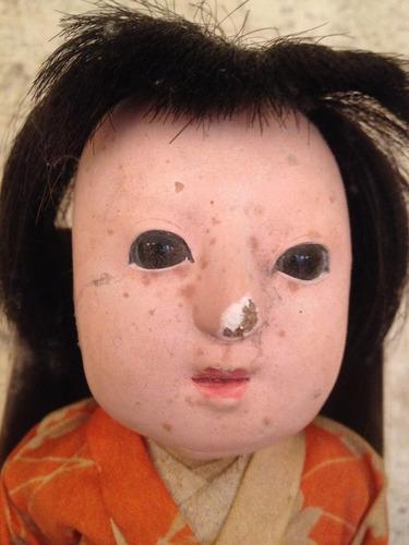 muñeca japónesa antigua con caja