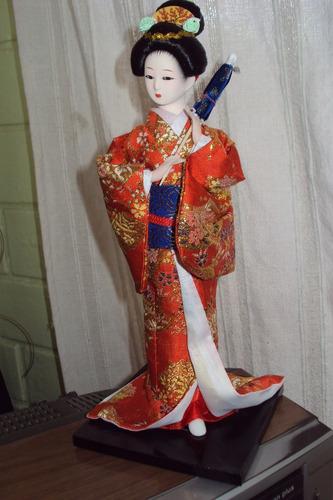 muñeca japonesa (geisha) hermosa figura de decoración