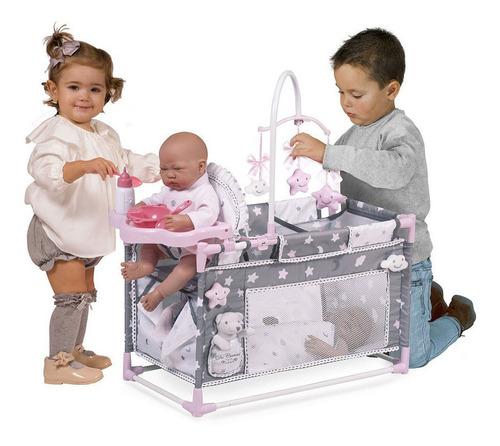 muñeca juguete cuna bebe