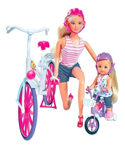 muñeca juguete steffi love y evi love  bici simba02