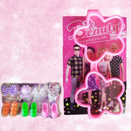muñeca juguete tipo barbie accesorios hermosa articulada