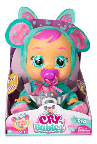 muñeca lala cry babies color azul/rosa
