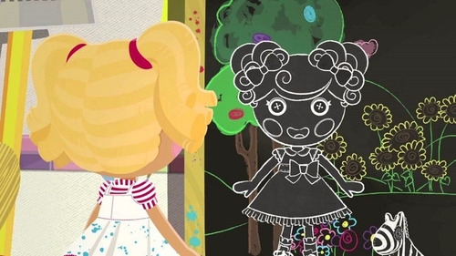 muñeca lalaloopsy color me trace e. doodles