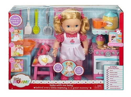 muñeca little mommy cocina conmigo dlb57