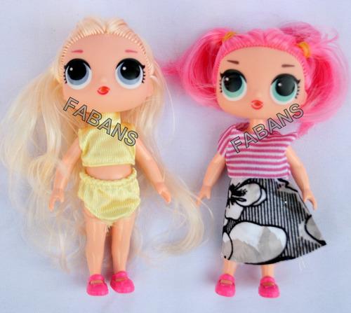 muñeca lol surprise 12cm sorpresa juguetes niña fabans