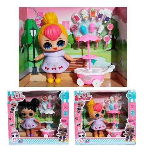 muñeca l.o.l surprise carrito de paletas (16 piezas) envio g