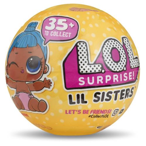 muñeca lol surprise lil sisters serie 3 capas 5 brillos