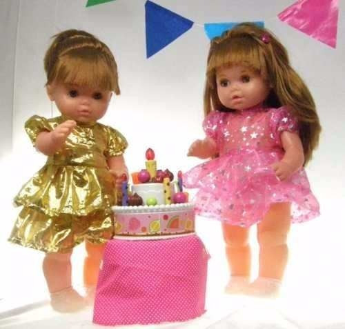 muñeca maricela cumpleaños sonido bebote tv nena torta