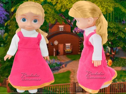 muñeca masha con musica 25cm original de tv diversion