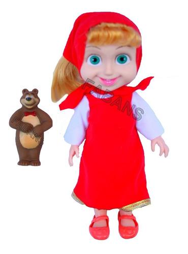 muñeca masha y el oso con musica grande juguete set niña