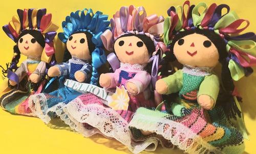 muñeca mazahua otomi mexicana artesanal recuerdo maria 13cms