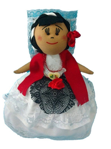 muñeca mexicana doble china poblana - jarocha