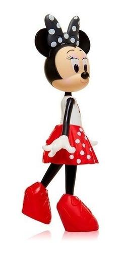 muñeca minnie mouse articulada falda roja 22 cm f84950