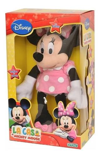 muñeca minnie plush con luz original ditoys full