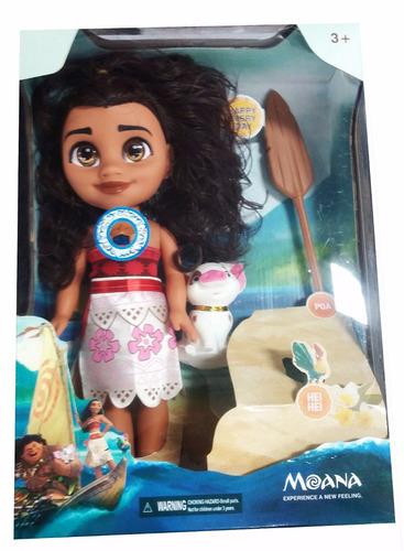 muñeca moana y pua canta 35cm princesa juguetes bebe grande