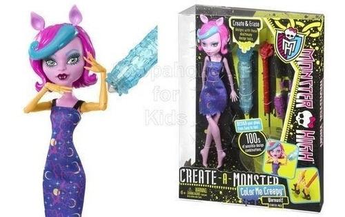 muñeca monster high creator colorea, cambia color, tu diseño