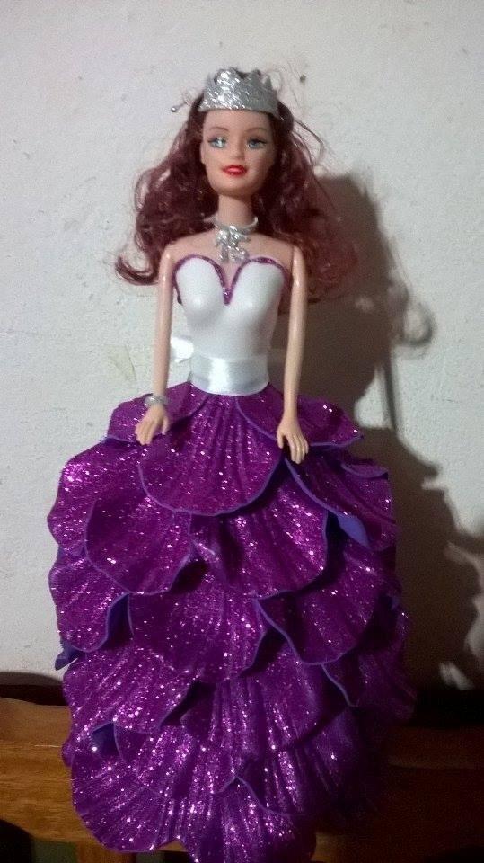 Muñeca Para Centro De Mesa Para Fiesta/ Vestida Con Gomaeva - $ 240 ...