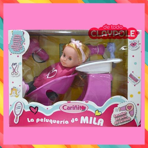 muñeca peluqueria mila original cariñito c/accesorios