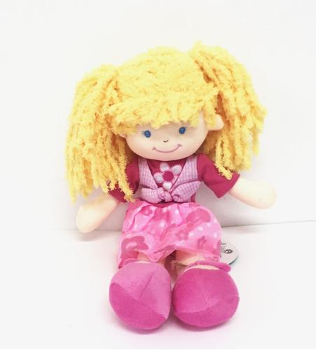 muñeca pepona boris soft de tela con cara bordada 35cm