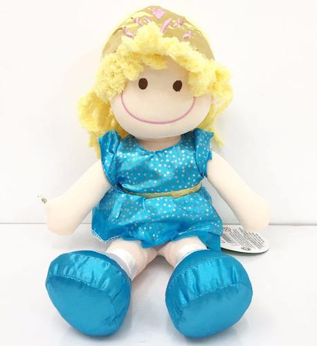 muñeca pepona cristy soft de tela con cara bordada 35cm