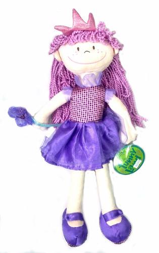 muñeca pepona regina soft lila 40 cm - jugueteria aplausos