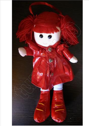 muñeca pepona soft con colitas de lana - mi primera muñeca!