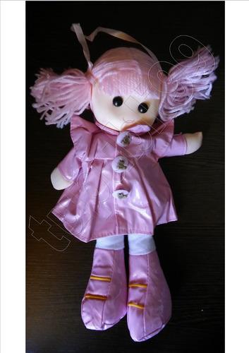 muñeca pepona soft con colitas de lana - navidad - reyes