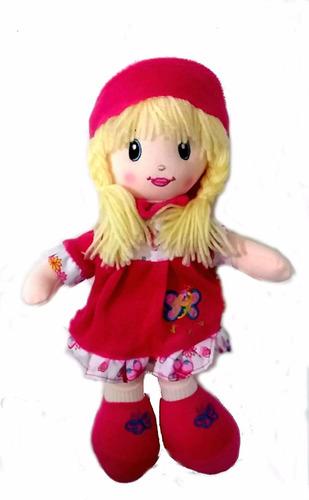 muñeca pepona soft vestido fucsia 35 cm jugueteria aplausos