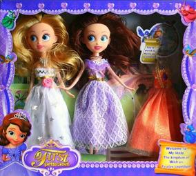 Amber Y Sofia Nuevas Princesa Set Juguete Barbie Muñeca Niña MVzSUp